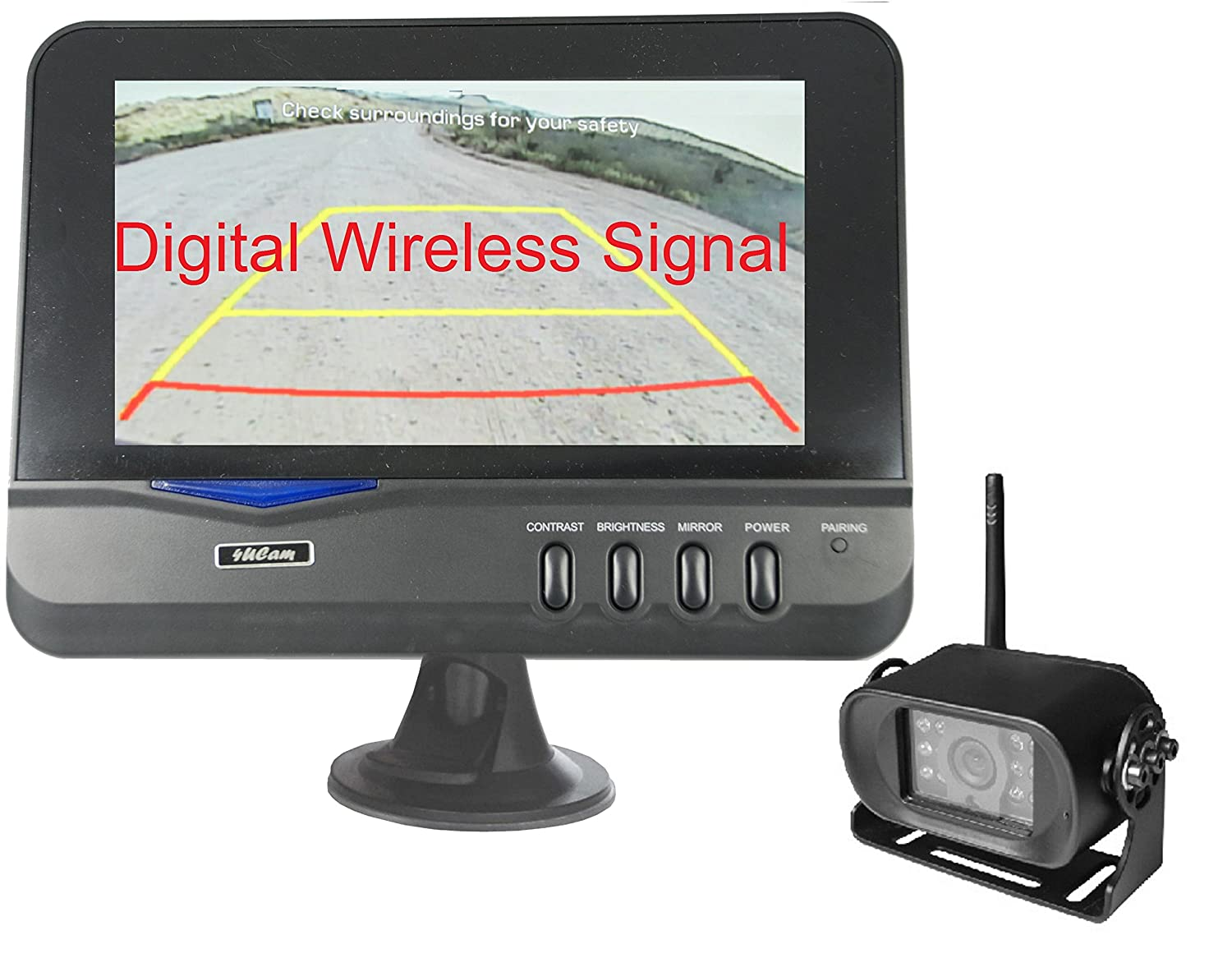 "4Ucam Digital Wireless Camera + 7"" Monitor for Bus, RV, Trailer, Motor Home, 5th Wheels and Trucks Backup or Rear View"