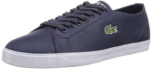 Lacoste Mens MARCEL LCR Low-Top Trainer, Blue, 6.5 UK