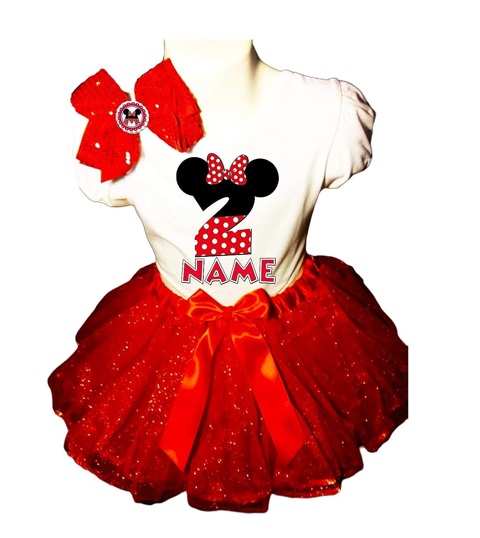 Minnie Mouse Tutu Dress 2nd Birthday Red