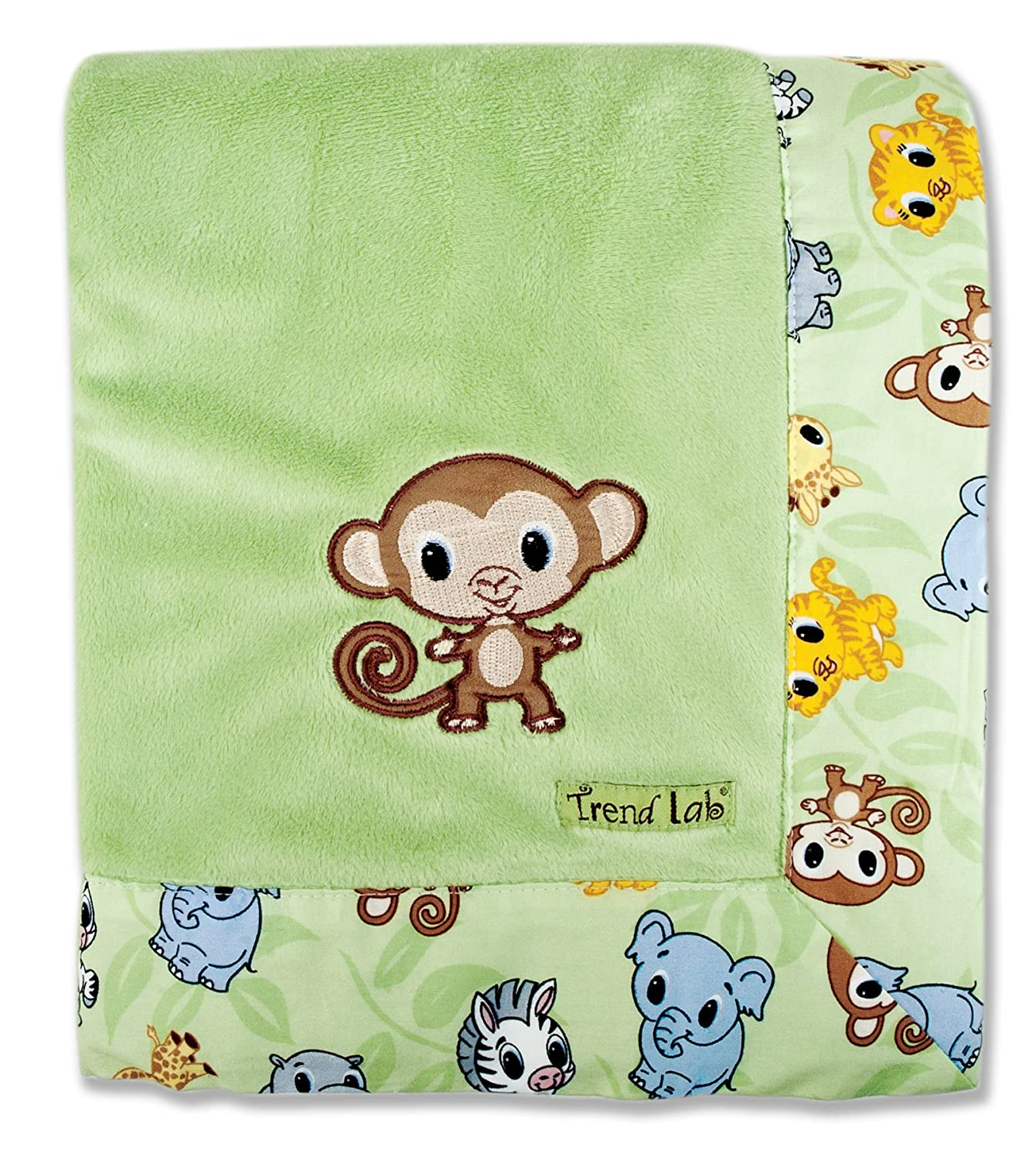 Trend Lab Blanket With Embroidery Chibi Velour