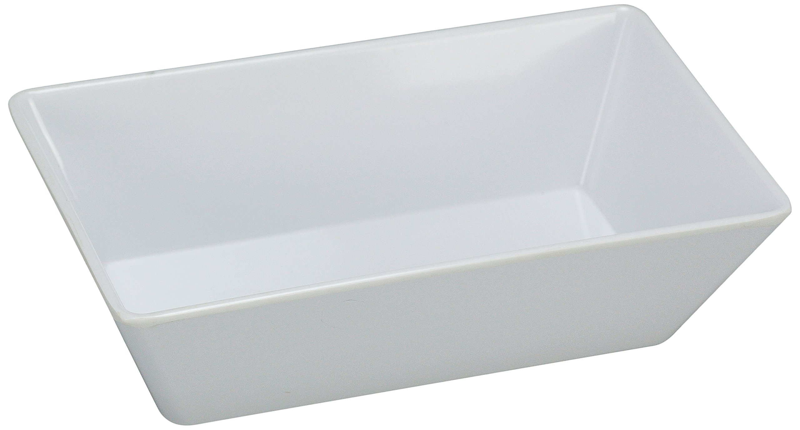 Yanco RM-614 Rome Rectangular Deep Plate, 13.75'' Length, 10'' Width, 2.5'' Height, Melamine, White Color, Pack of 12