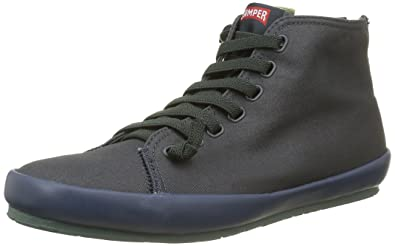 Camper Borne, Sneakers Hautes Homme - Gris (Dark Gray 002), 45 EU