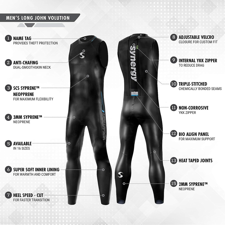 Amazon.com: Synergy - Traje de neopreno para triatlón 3 ...