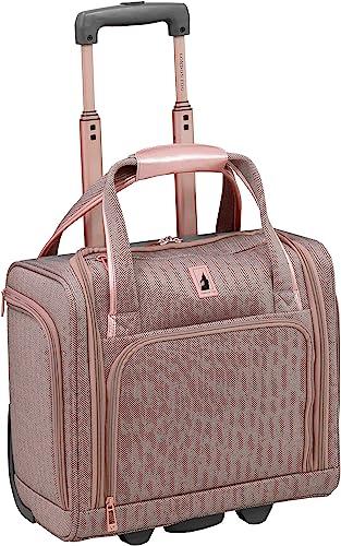 London Fog Newcastle 15 Under The Seat Bag, Rose Charcoal Herringbone, 15 Inch