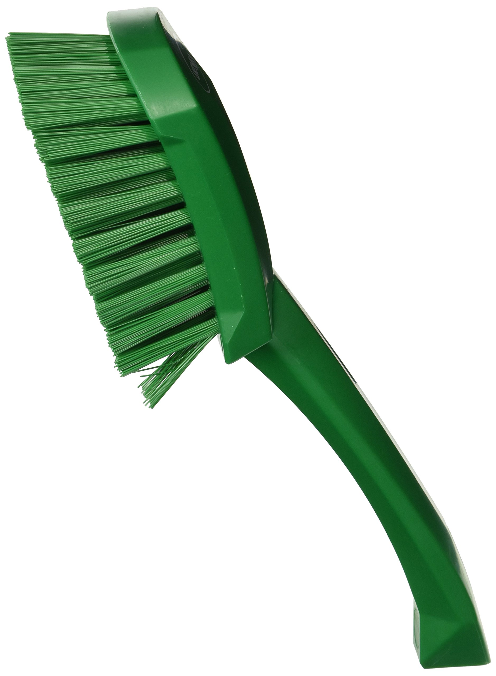 Vikan 41922 Heavy Duty Sweep Hand Brush, Polypropylene, Polyester Stiff Bristle, 10'', Green