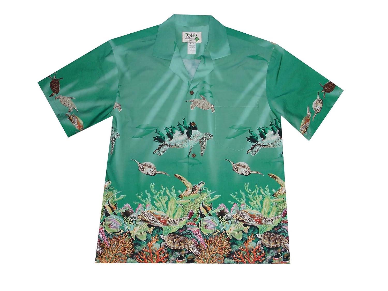 Hawaiian Ocean Life Fish /& Turtles Aloha Shirts