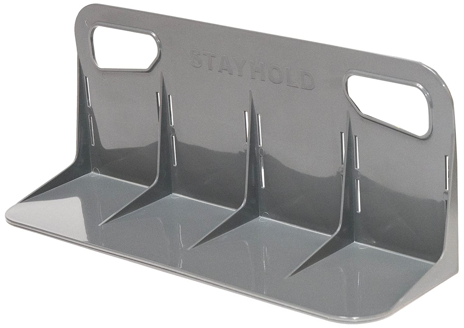 STAYHOLD Car Trunk Organizer, Adapts to Hold Any Size or Shape Item | Sticks to Carpet with Hard Gripping VELCRO Brand Technology | Cars, Trucks, SUV, Minivan & Boats | Size L 2Pk, Classic | Gray STA-30036-USA