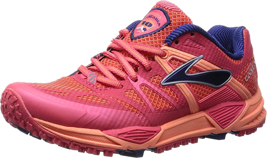 10ffd89be8a Brooks Women s Cascadia 10 Flamingo Creamsicle Blueprint Athletic Shoe