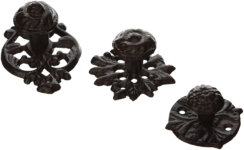Amazon.com: Esschert Design Cast Iron Door Knobs, Set of 3: Garden ...