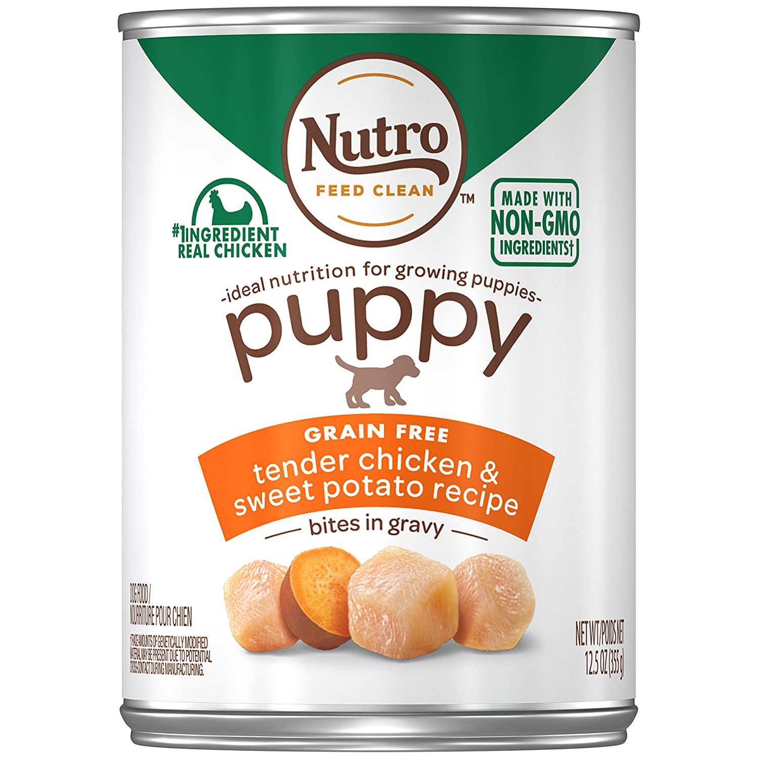 Nutro Puppy Natural Wet Dog Food, 12 12.5 oz. Cans