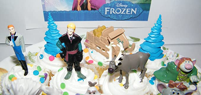 Amazoncom Disney Frozen Movie Figure Deluxe Cake Toppers Cupcake