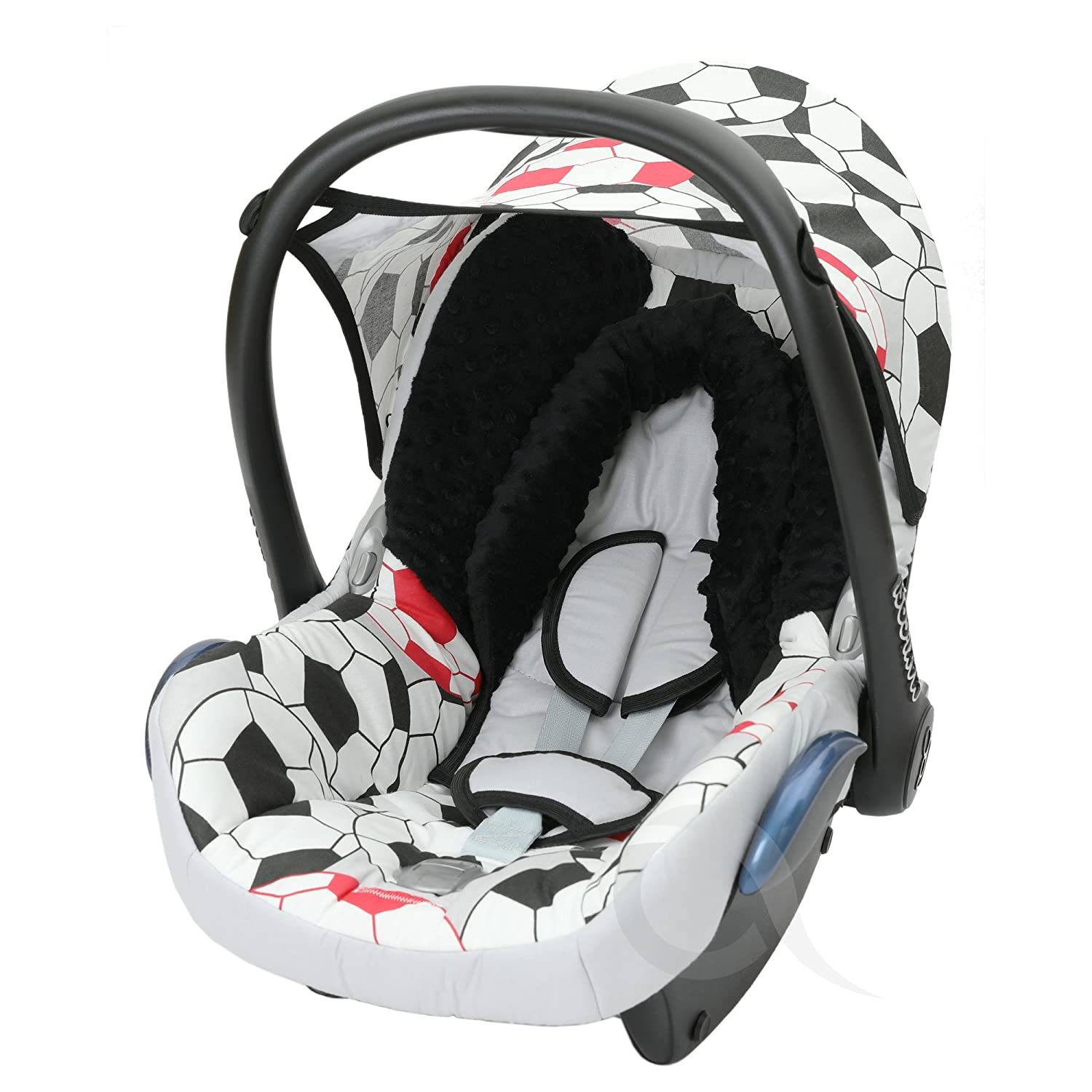 Infant Carrier FULL set COTTON Replacement Seat Cover fits Maxi-Cosi CabrioFix Group 0 red // mickey mouse