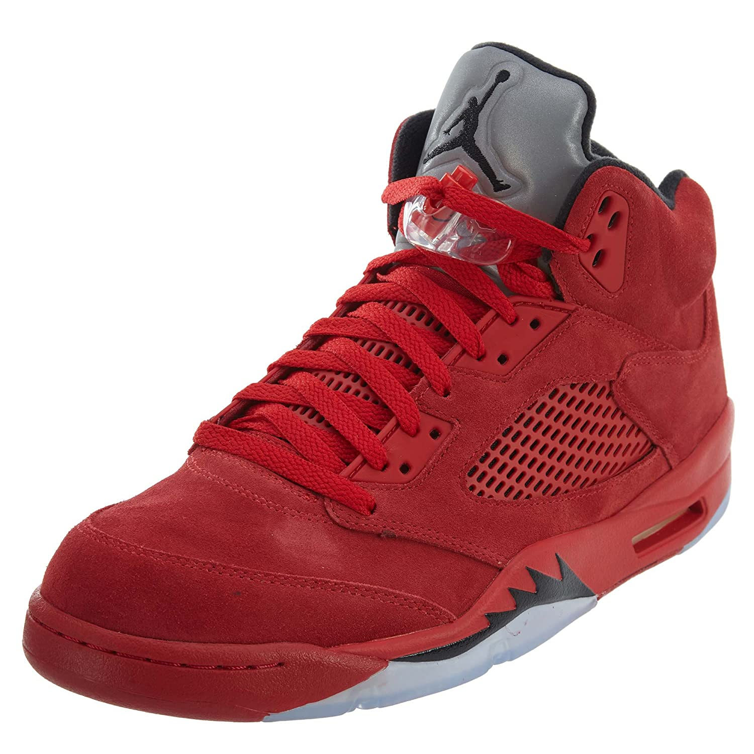 new concept a9932 d2e42 Amazon.com   Jordan Men s Air 5 Retro, University RED Black, 7 M US    Basketball