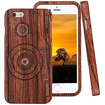 iPhone 6 Funda de Madera, ZXK CO Fundas Protectiva Carcasa ...
