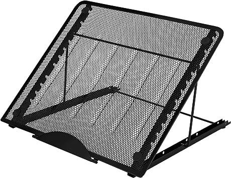 AGPTEK Soporte para Portátil Ajustable Ventilado de Tamaño Grande, Imagen Multifunción (12 Puntos de Ángulo) Soporte de Trazado Antideslizante Huion A3 Tablero de luz LED y Caja de Luz de Trazado: Amazon.es: