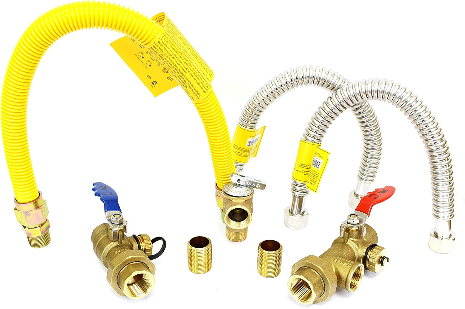 """3//4/"""" Gas Tankless Water Heater Isolation Installation Complete Kit Lead-Free"""