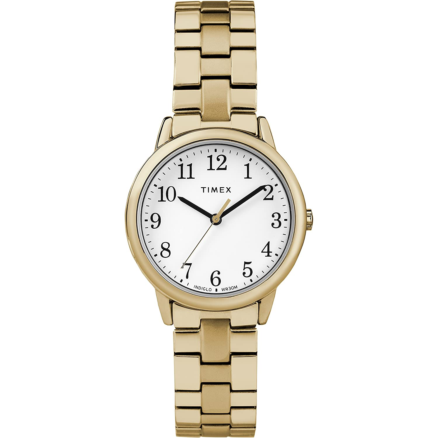 4320d3beacf4 Amazon.com  Timex Women s TW2R58900 Easy Reader 31mm Gold-Tone Stainless  Steel Expansion Band Watch  Watches