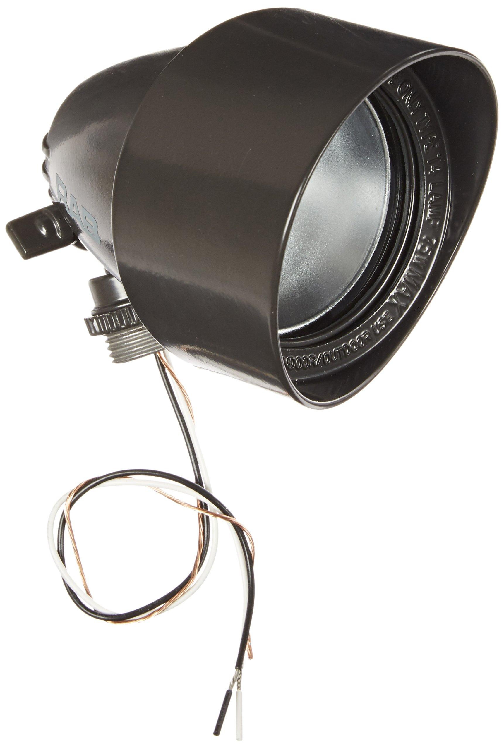 RAB Lighting QB1A Quartz Bullet Floodlight, Aluminum, 75W Power, 1500 Lumens, 127V, Bronze Color