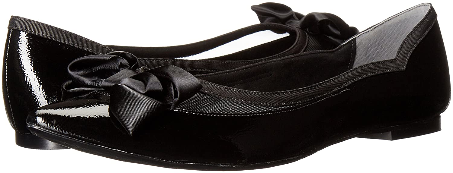 J.Renee Women's Allitson Pointed Toe Flat B01INJLRI8 7.5 B(M) US|Black