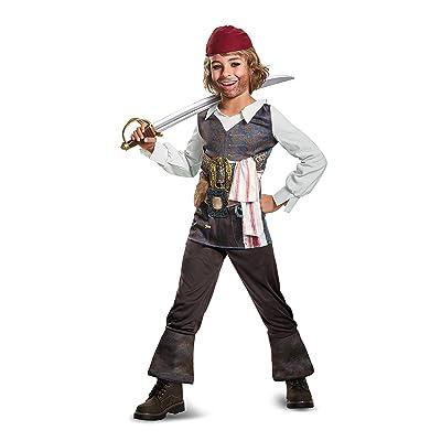 Disguise POTC5 Captain Jack Sparrow Classic Costume, Multicolor, Medium (7-8): Disguise: Toys & Games