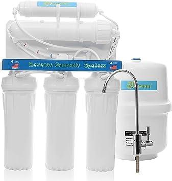 Filtro de agua, purificador de agua filtro de ósmosis inversa agua potable wyness 5 etapas Sistema