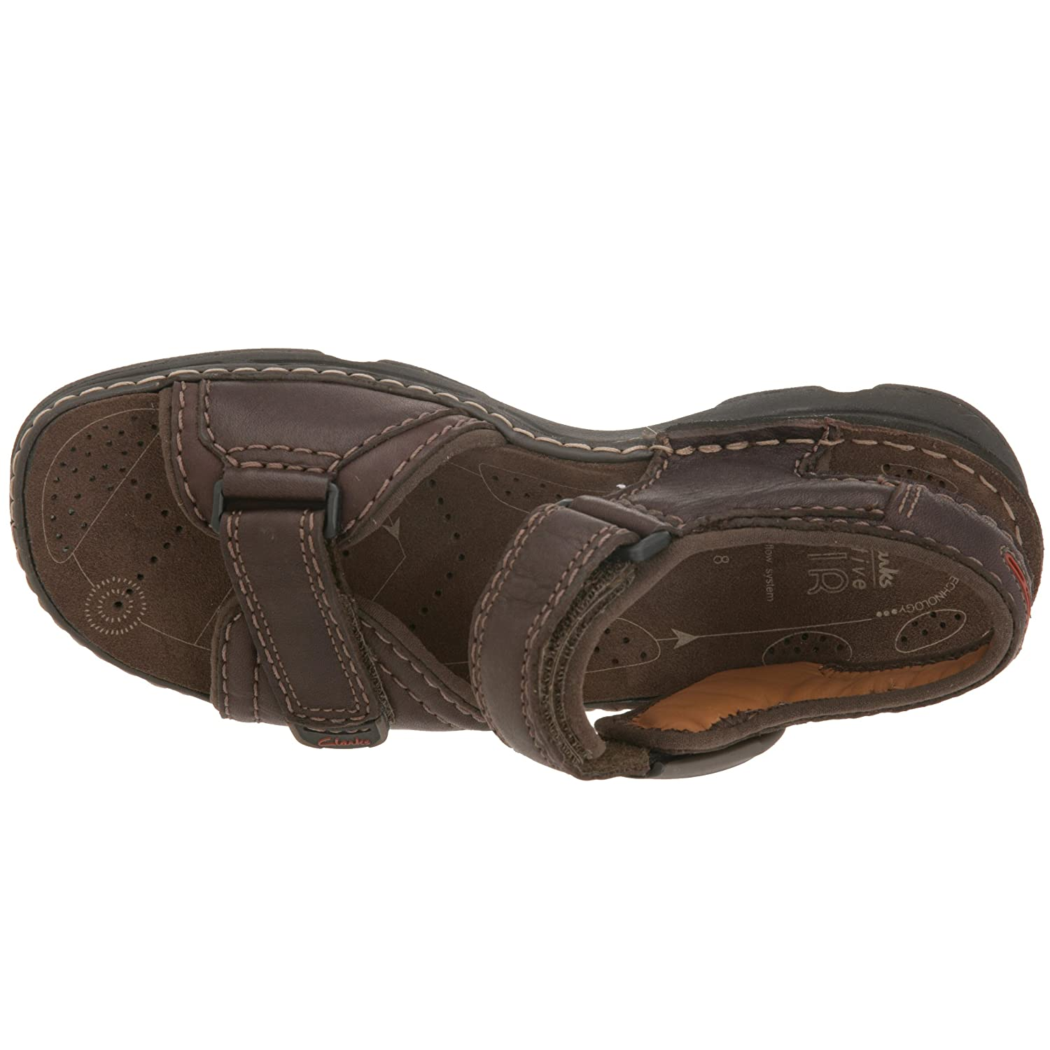 cf0d1b5def3 Clarks Men s 20339068 Open Toe Sandals Brown Size  12 UK  Amazon.co.uk   Shoes   Bags