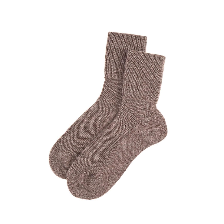 Otter Brown Women's Cashmere Mix Socks Made in Scotland (85% Cashmere 15% Nylon)