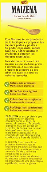 Maizena - Harina fina de maíz, 400 g: Amazon.es: Alimentación y bebidas