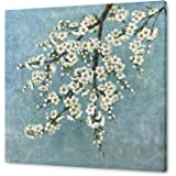 Yihui Arts White Flower Living Room Wall Art Hand Painted Modern Floral Painting Canvas Pictures Plum Blossom Artwork For Dec