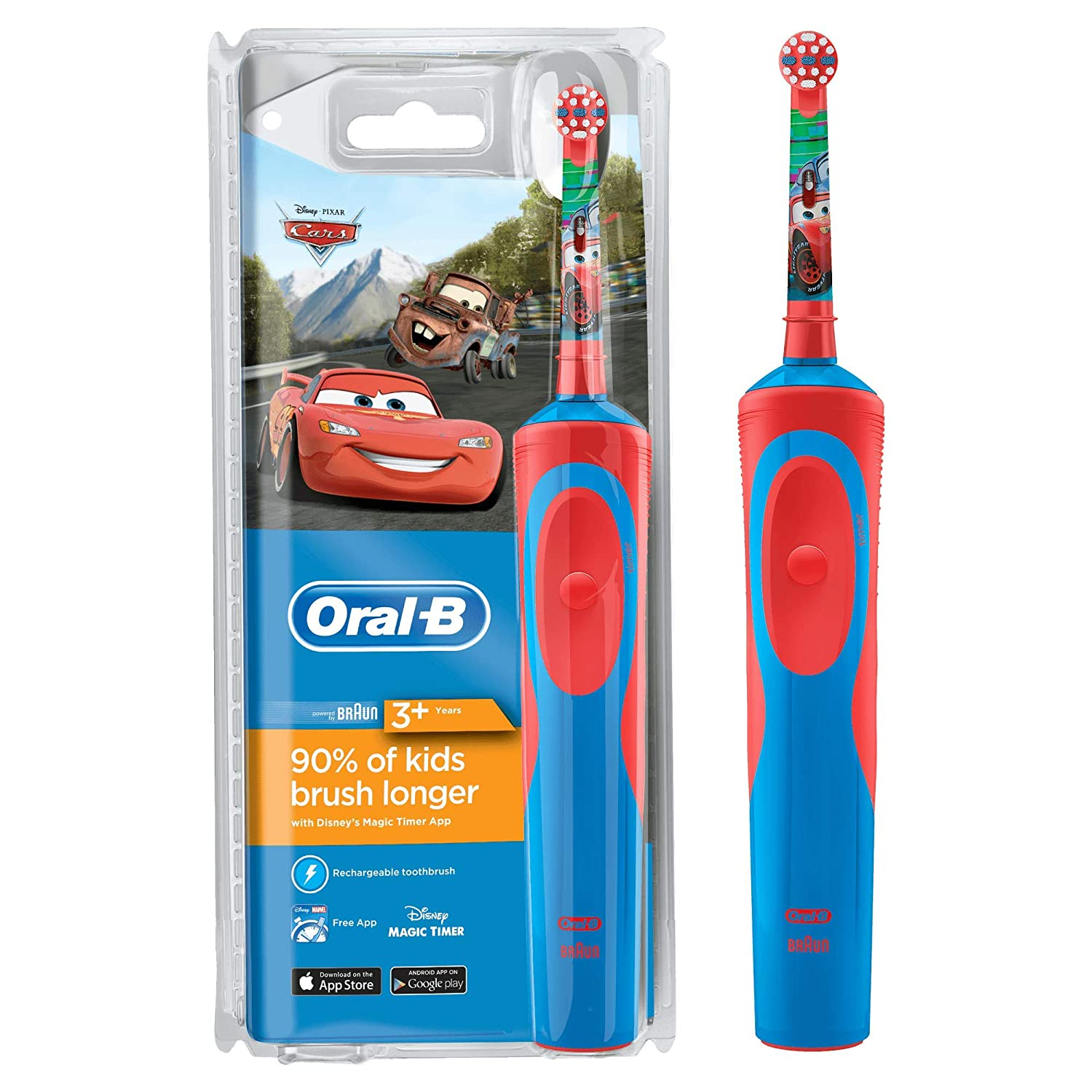 Details about Oral B Stages Power Vitality Disney Cars Electric Rechargeable Kids Toothbrush