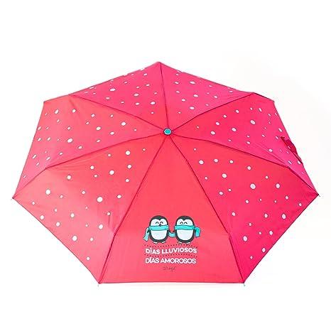 "Mr. Wonderful Paraguas Pequeño, Diseño""Días Lluviosos, Días Amorosos"", ..."
