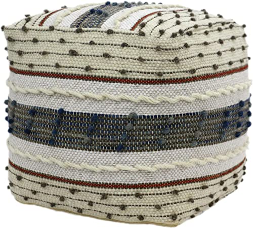 Christopher Knight Home Riva Boho Wool and Cotton Ottoman Pouf