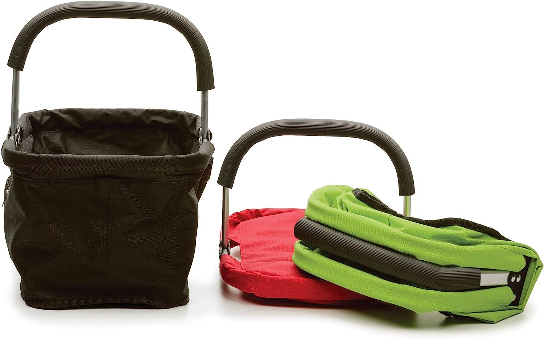 RSVP Green Polyester Collapsible Market Basket with Pocket