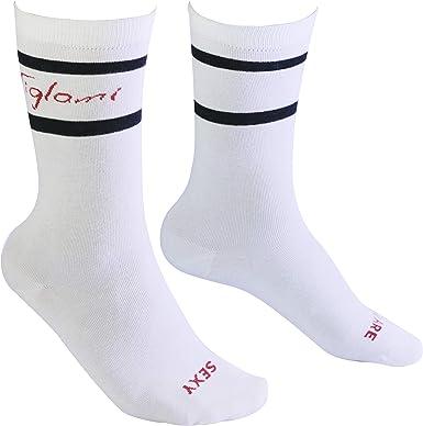 Tiglami Secreto Negro - Calcetines blancos y negros - de algodón ...