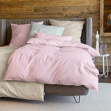 Zeitgeist Bettwäsche 155x220cm Flauschig Warme Biberbettwäsche 100