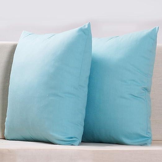 PimpamTex Pack de 2 Fundas de Cojín Decorativo Lino Algodón Suave ...