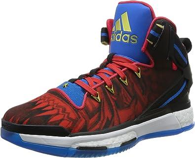 chaussure adidas rouge et bleu