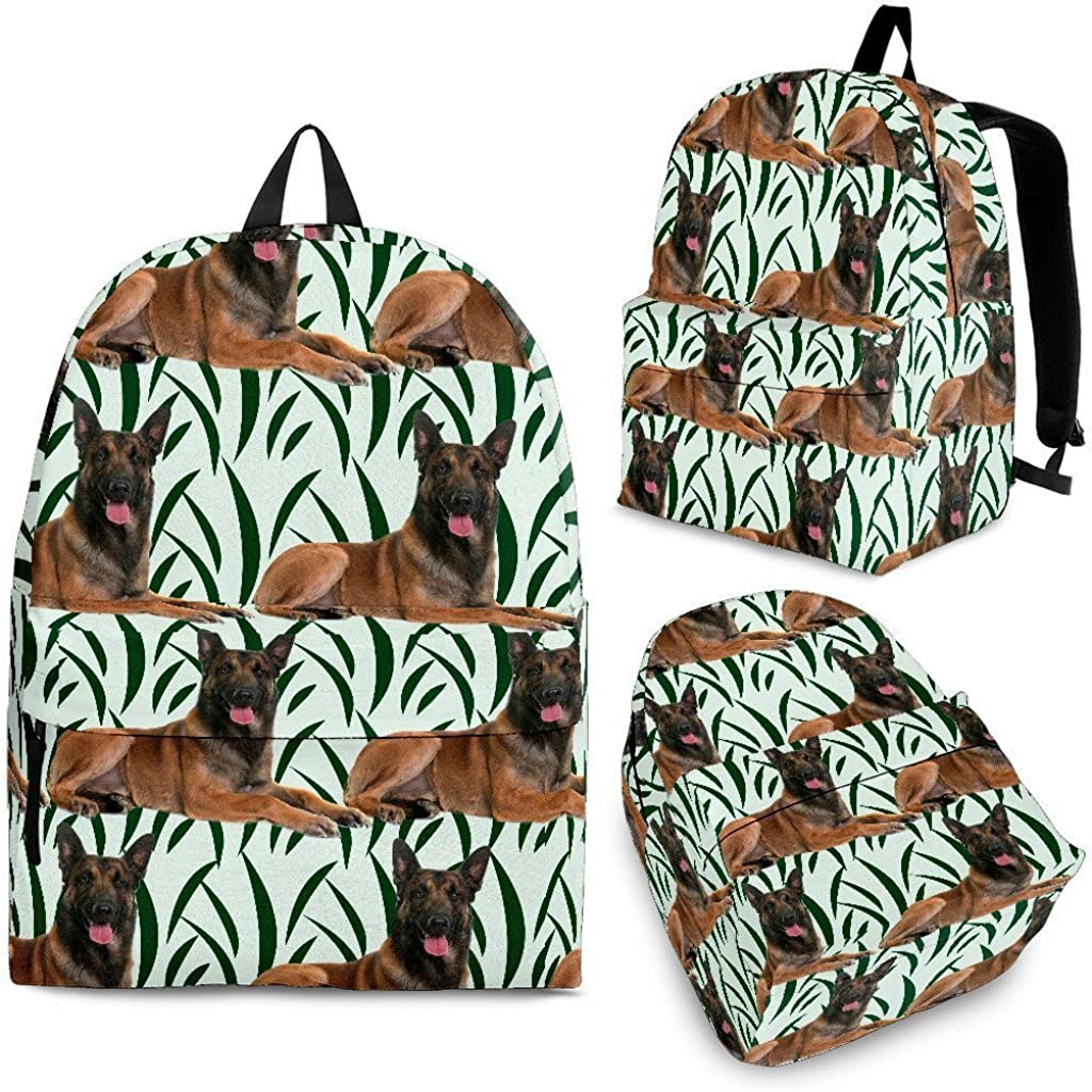 Cute Belgian Malinois Dog Print Backpack Set For Kids and Girls