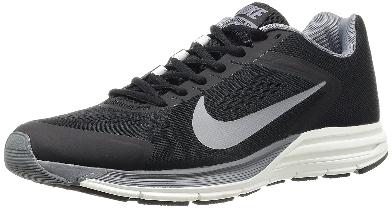 the best attitude 7b949 42c30 Amazon.com   NIKE Men s Zoom Structure 17, Black Reflect Silver Cool  Grey-Summit White, 6 M US   Running