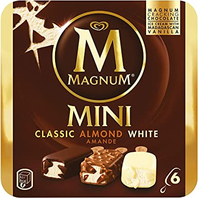 Magnum - Mini Clásico Almendras Blanco Helado - Paquete de 6 x 60 ...