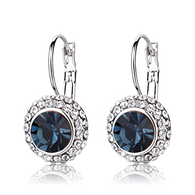 5b5591cec Rolicia Gold Silver Plated Austrian Zircon Crystal earrings/stud/drop Made  with Swarovski Elements