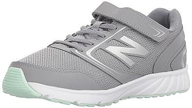 32560d1ec9a36 New Balance Unisex 455v1 Hook and Loop Running Shoe, Grey/Seafoam, 1.5 W
