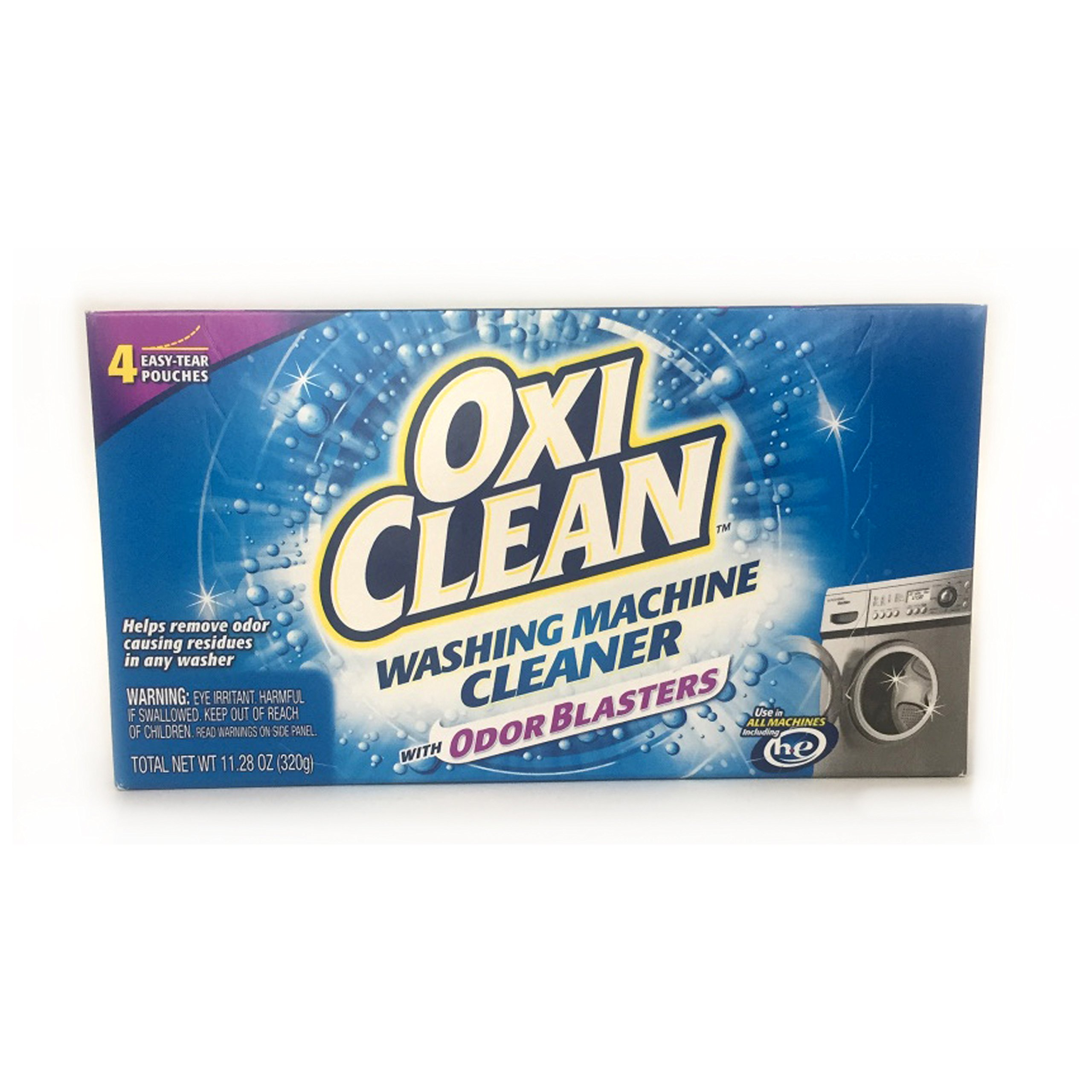 Oxiclean Washing Machine Cleaner, 1 Pack of 4 Easy-tear Pouches ( Pack of 2 )