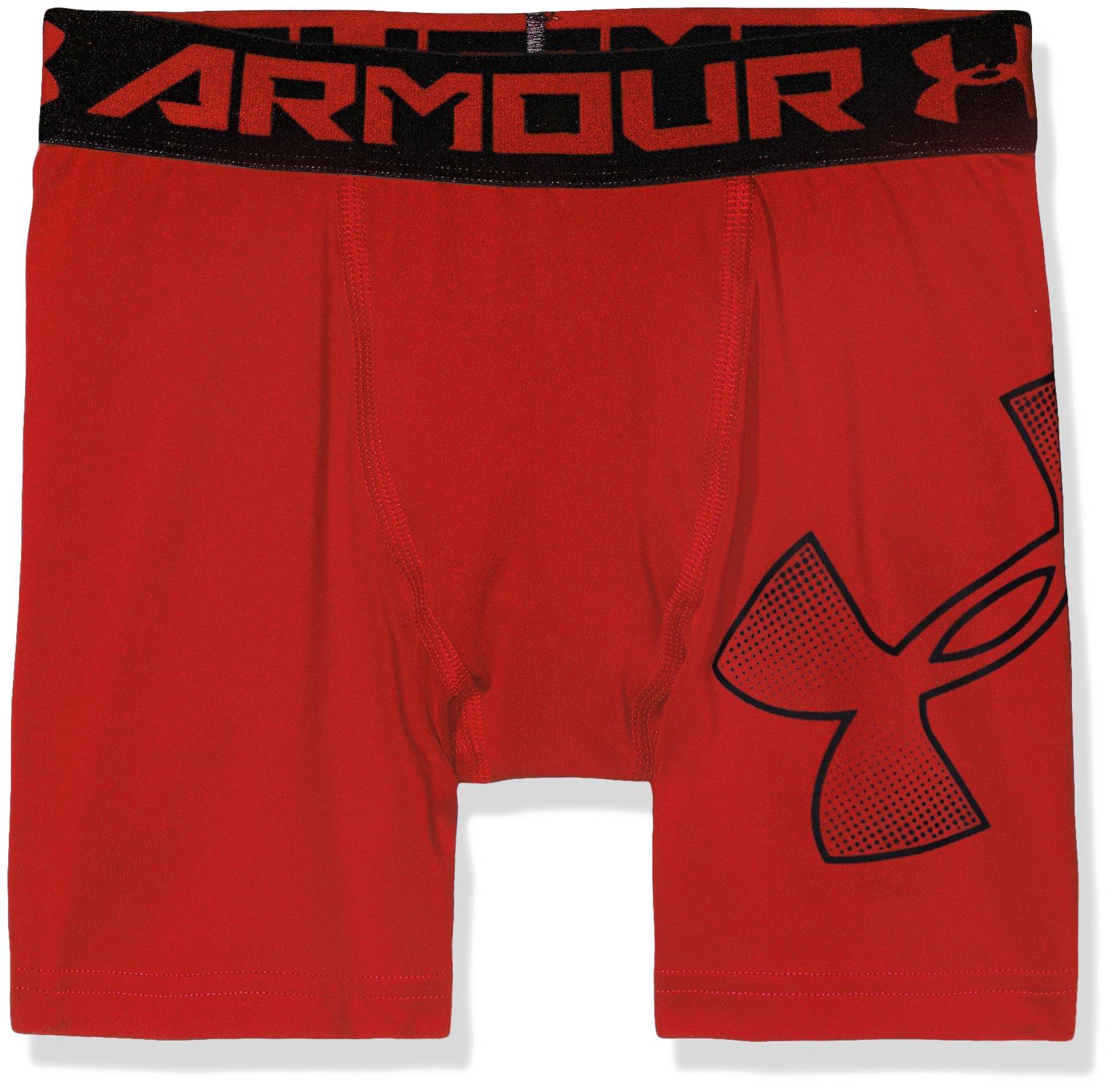Under Armour Boys Heatgear Armour Mid Shorts, Red