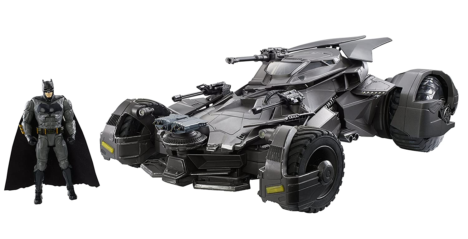 Justice League Ultimate Batmobile RC Vehicle /& Figure Mattel FKM40