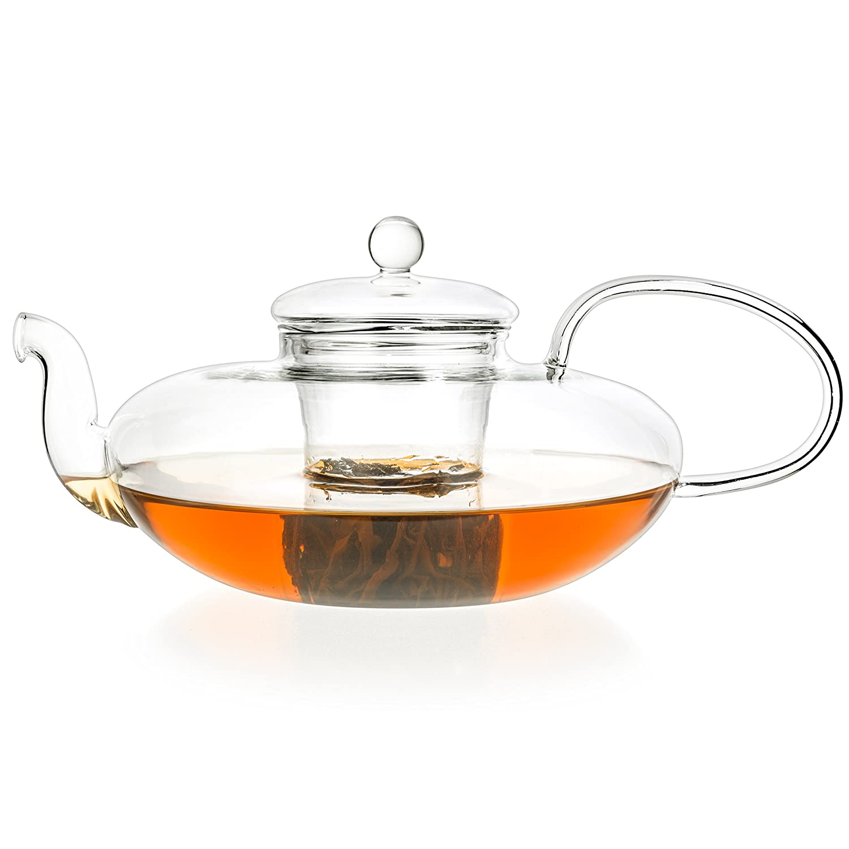 Teekanne XL aus Glas Toyo 1, 8L flache Glaskanne Urban Trading