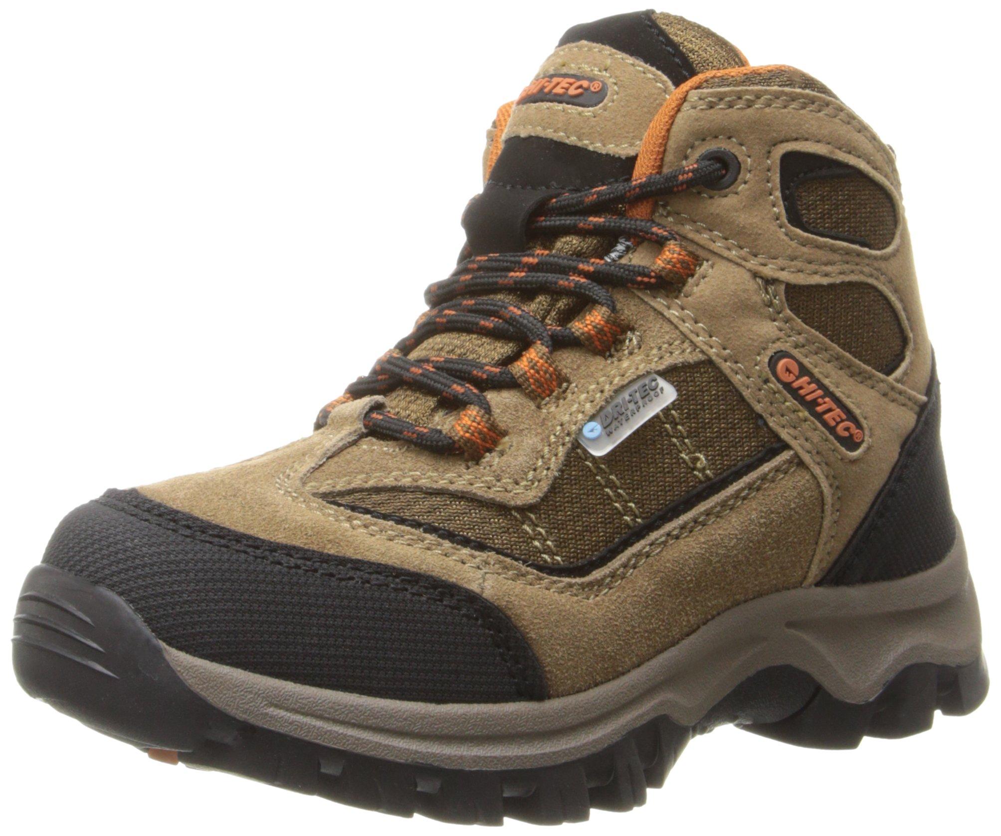 Hi-Tec Kids Unisex Hillside Waterproof Jr hiking Boot (Toddler/Little Kid/Big Kid), Brown/Orange, 4 M Big Kid