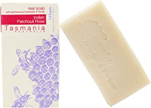 Beauty and the Bees Indian Patchouli Rose Soap with Leatherwood Honey | 100% Chemical Free | Handmade in Tasmania Australia | All Natural