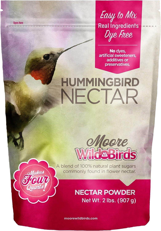 Moore Wild Birds Hummingbird Nectar Easy Mix All Natural Plant Based Food Powder (Makes 128 Ounces / 4 Quarts)