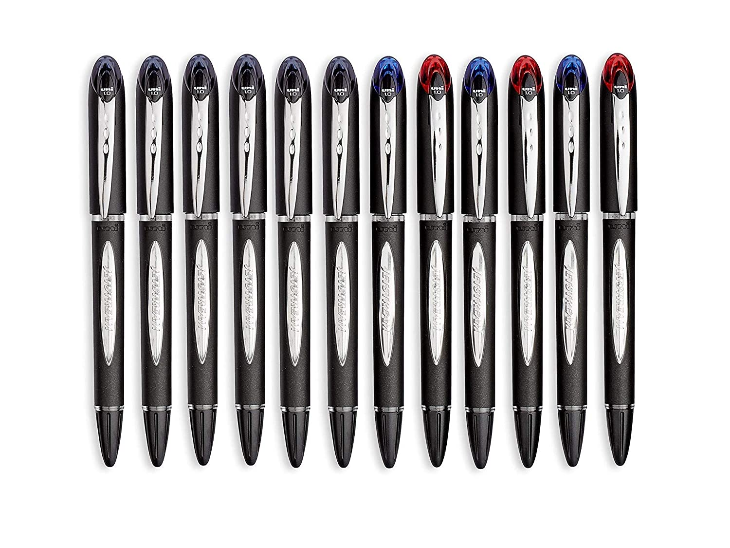 uni-Ball Jetstream Ballpoint Pens, Bold Point (1 0mm), 8 Black + 4 Assorted  Colors Pack